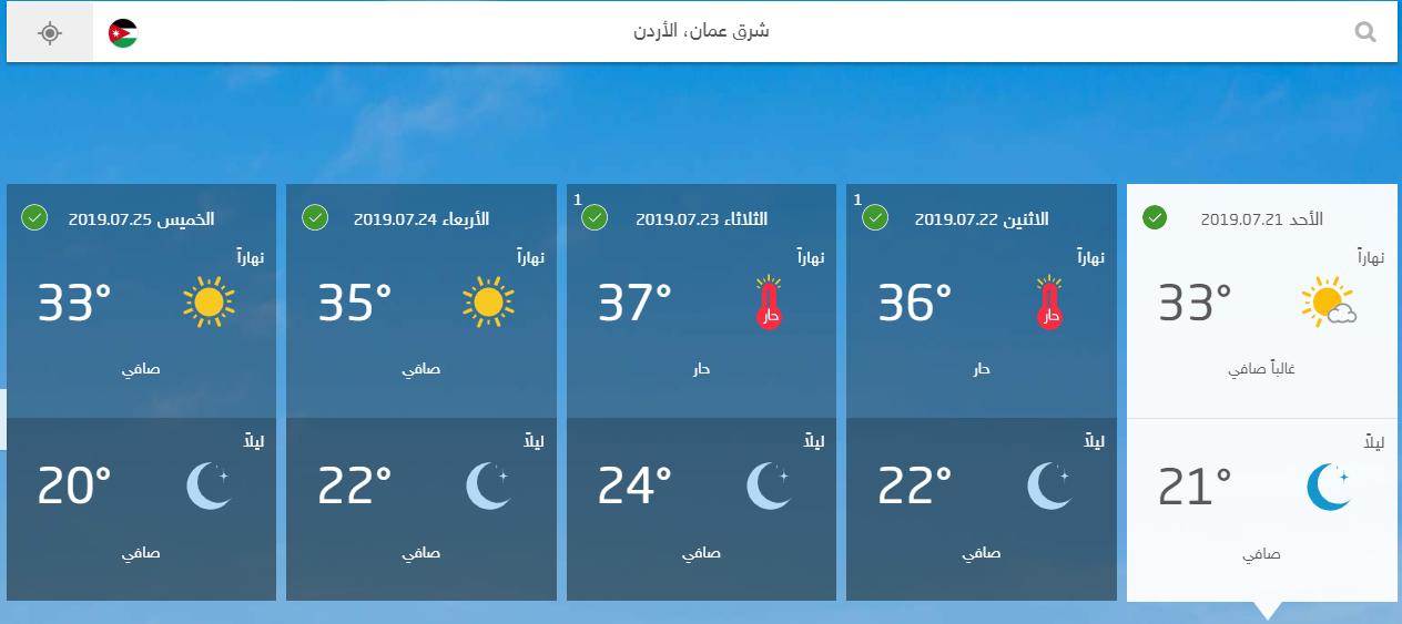 الصورة من موقع طقس العرب