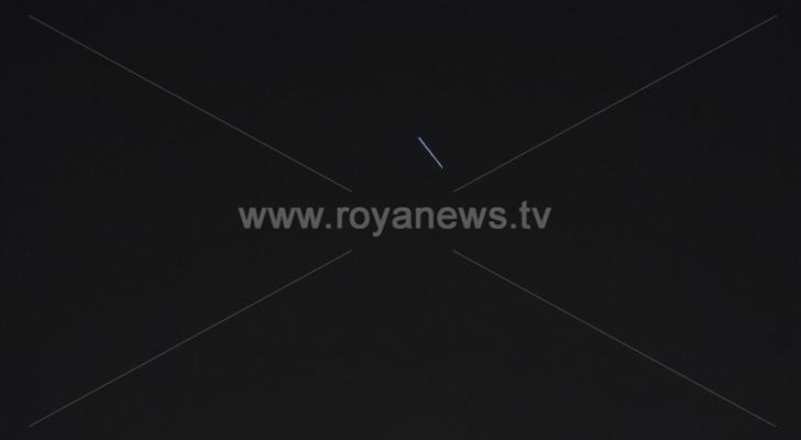 الصاروخ الصيني التائه يمر في سماء الأردن